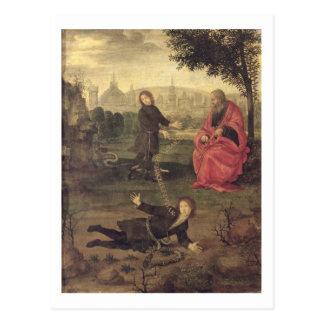 Allegorie, c.1485-90 (Öl auf Platte) Postkarte