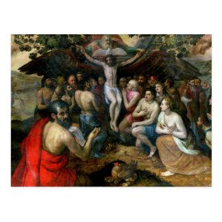 Allegorie der Dreiheit (Öl auf Platte) Postkarte
