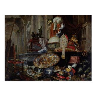 Allegorie der Eitelkeiten der Welt, 1663 Postkarte