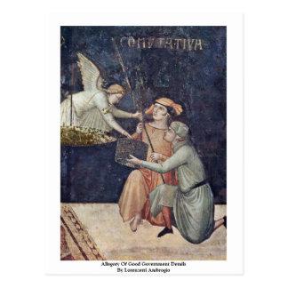 Allegorie der guten Regierungs-Sonderkommandos Postkarte