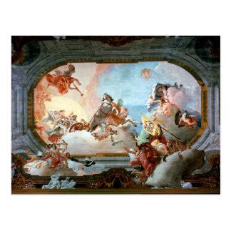 Allegorie der Heirat von Rezzonico zu Savorgnan Postkarte