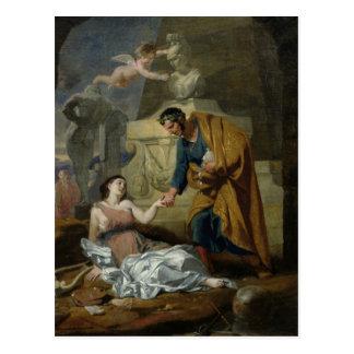 Allegorie der Künste und des Patronats Postkarte