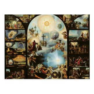 Allegorie der Schaffung des Kosmos Postkarte