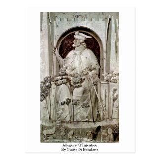 Allegorie der Ungerechtigkeit durch Giotto Di Postkarte