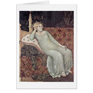 Allegorie des Friedens durch Ambrogio Lorenzetti Grußkarte