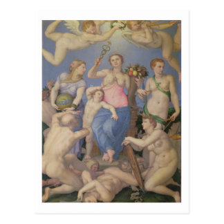 Allegorie des Glückes, c.1567 (Öl auf Kupfer) Postkarte