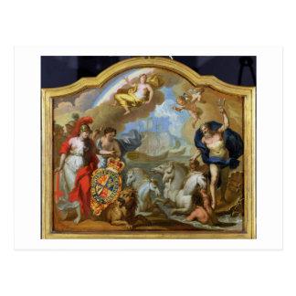 Allegorie des Powers von Großbritannien durch Postkarte