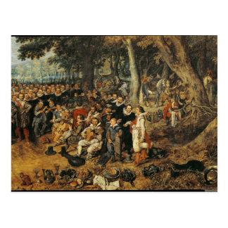 Allegorie des Waffenstillstands von zwischen Postkarte