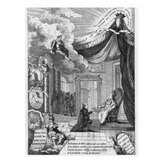 Allegorie von berichtet Louis XVI Postkarte