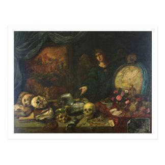 Allegorie von Eitelkeit, 1650-60 (Öl auf Leinwand) Postkarte