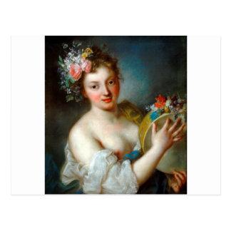 Allegorie von Musik durch Rosalba Carriera Postkarte