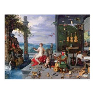 Allegorie von Musik Postkarte