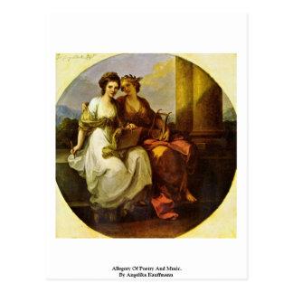 Allegorie von Poesie und von Musik. Durch Angelika Postkarte