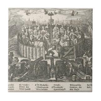Allegorie, welche die Versöhnung Gent Adriaen Keramikfliese