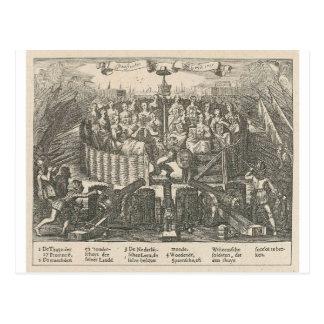 Allegorie, welche die Versöhnung Gent Adriaen Postkarte