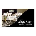 Allegré Stagers-Zuhause, das Innenarchitektur Visitenkarte