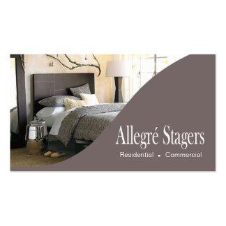 Allegré Stagers-Zuhause, das Innenarchitektur Visitenkarten Vorlagen