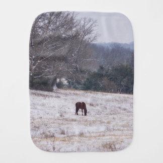 Allein im Schnee Spucktuch