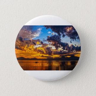 Allein im Sonnenuntergang Runder Button 5,7 Cm