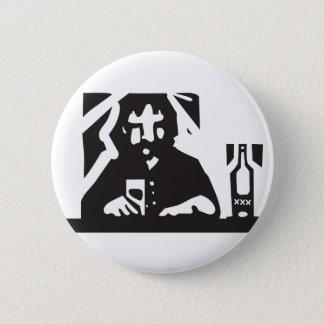 Allein trinken runder button 5,7 cm