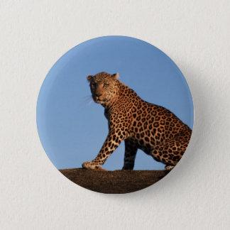Alleiner Leopard Runder Button 5,1 Cm