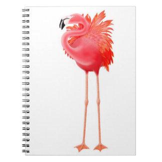 Alleines tropisches rosa Flamingo-Notizbuch Notizblock