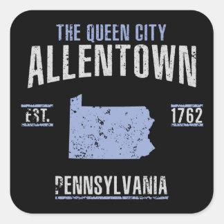 Allentown Quadratischer Aufkleber