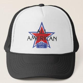 Aller amerikanische Dreiergruppe-Vati Truckerkappe