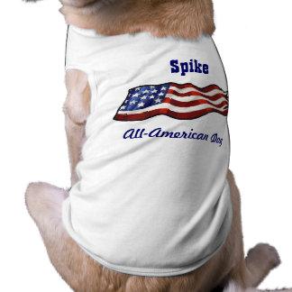 Aller amerikanischer Hundepatriotische Shirt