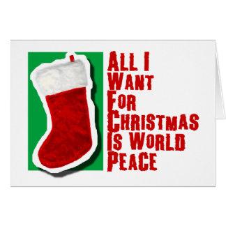 Aller, den ich für Weihnachten will, ist Karte