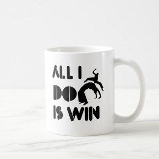 Aller, den ich tue, ist Gewinn bei Capoeira Kaffeetasse