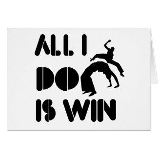 Aller, den ich tue, ist Gewinn bei Capoeira Karte