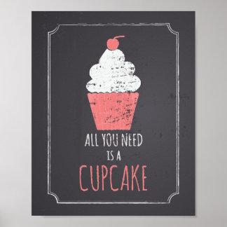 Aller, den Sie benötigen, ist ein kleiner Kuchen Poster