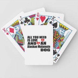 ALLER, den SIE BENÖTIGEN, IST LIEBE alaskischer Bicycle Spielkarten