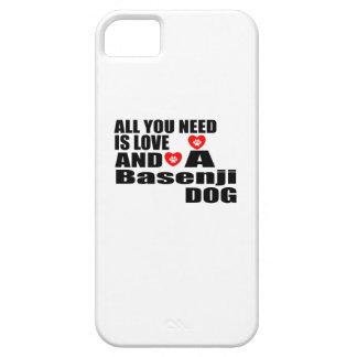 ALLER, den SIE BENÖTIGEN, IST LIEBE Basenji iPhone 5 Etui