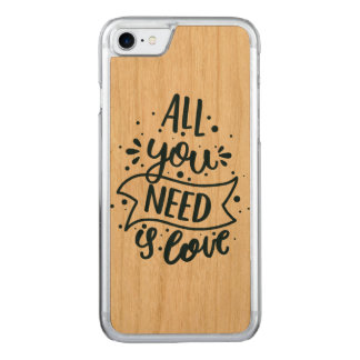 Aller, den Sie benötigen, ist Liebe-Holz-Kasten Carved iPhone 8/7 Hülle