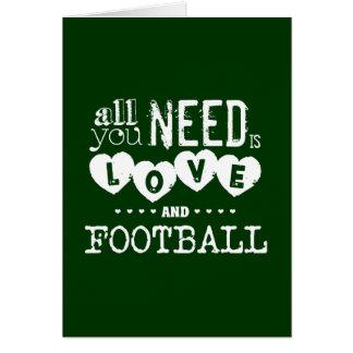Aller, den Sie benötigen, ist Liebe und Fußball Karte