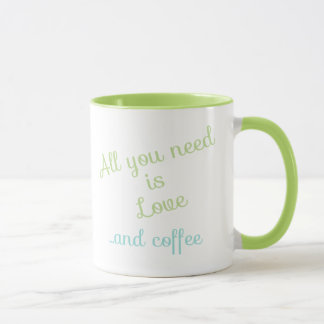 Aller, den Sie benötigen, ist Liebe… und Kaffee Tasse