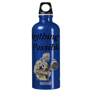 Aller des möglichen Bodybuilders Aluminiumwasserflasche
