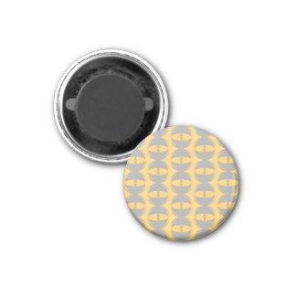 Aller eyse Senf-Grau-Kühlschrankmagnet Runder Magnet 2,5 Cm