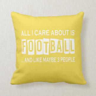 Aller i-Sorgfalt ist ungefähr Fußball Kissen