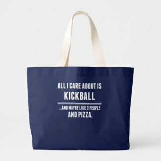 Aller i-Sorgfalt ist ungefähr Kickball Sport Jumbo Stoffbeutel