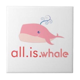 Aller ist Wal (Rosa) Fliese
