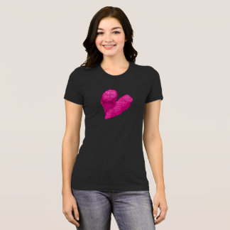 Aller Leute-Rosa-Text-Herz-T - Shirt