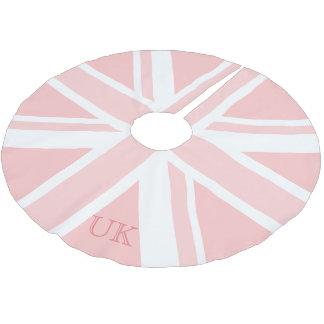 Aller rosa Gewerkschafts-Jack-Flaggen-BRITISCHE Polyester Weihnachtsbaumdecke