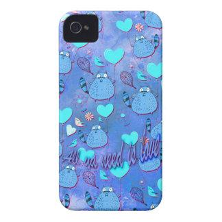 Aller ya Bedarf ist goofy Katzengrafik der Liebe iPhone 4 Etuis