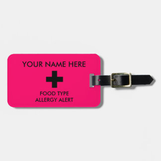 Allergie Identifikation u. I.C.E. Tag Gepäckanhänger