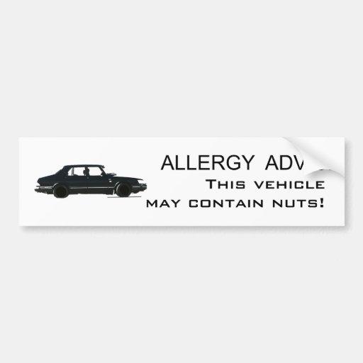 Allergie-Rat Autoaufkleber