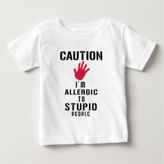 Allergisch zu den dummen Leuten Baby T-shirt