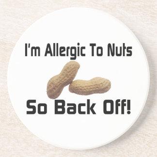 Allergisch zu den Nüssen ziehen Sie so sich zurück Sandstein Untersetzer